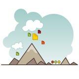 De Opslagpictogram van wolkengegevens Stock Afbeelding