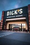 De opslagteken en embleem van Dicks Sportief Goederen Stock Foto's