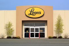 De Opslagteken van Leon stock foto