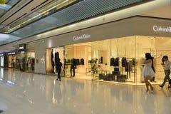 De opslagwinkel van de Ckï¼ ŒCalvin Klein Kleding in Tchang-cha Wanda Plaza, het winkelen royalty-vrije stock afbeelding