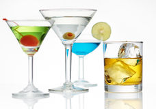De opstelling van de alcohol Stock Foto's