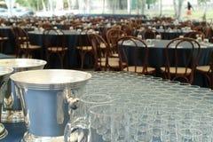De opstelling van de catering royalty-vrije stock afbeelding