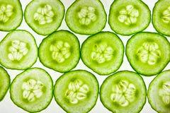 De opstelling van de komkommer Stock Foto