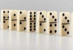 De opstelling van domino's Royalty-vrije Stock Fotografie