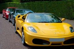 De opstelling van Ferrari Stock Afbeeldingen