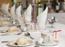 De opstelling van het huwelijksontbijt Stock Afbeelding