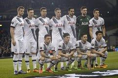 De opstelling van Tottenham Hotspur Stock Afbeeldingen