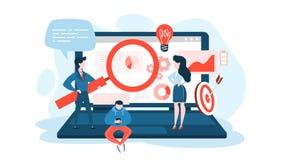 De optimaliseringsconcept van SEO of van de zoekmachine Marketing Strategie royalty-vrije illustratie