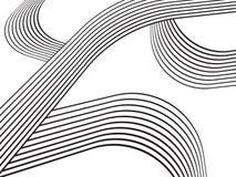 De optische effect beweging van het de streepontwerp van de mobiusgolf Stock Foto