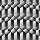 De optische illusie van kubussenrijen stock illustratie