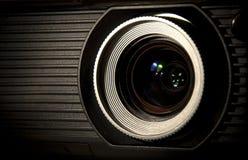 De optische lens van de projector Stock Fotografie