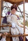 De optocht van de koningin van Faire van de renaissance Royalty-vrije Stock Afbeelding