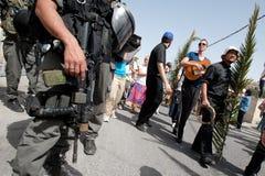 De Optocht van de Palmzondag in Jeruzalem Stock Afbeelding