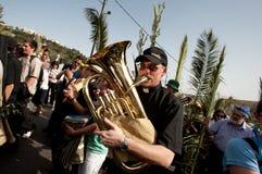De Optocht van de Palmzondag in Jeruzalem Royalty-vrije Stock Fotografie