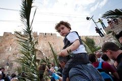 De Optocht van de Palmzondag in Jeruzalem Stock Fotografie