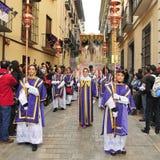 De Optocht van Pasen in Granada, Spanje Stock Foto's