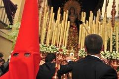 De Optocht van Pasen in Granada, Spanje Stock Afbeelding