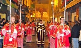 De Optocht van Pasen in Granada, Spanje Royalty-vrije Stock Foto's