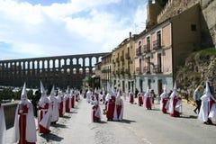 De Optocht van Pasen in Segovia Royalty-vrije Stock Afbeeldingen