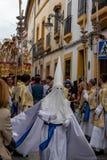 De optocht van Semanasanta in Cordoba stock fotografie