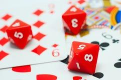 De opwinding van het kaartspel Stock Fotografie