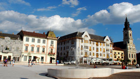 De Oradea cidade para baixo Fotos de Stock