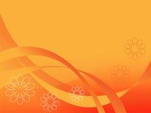 De oranje abstracte achtergrond. Stock Foto