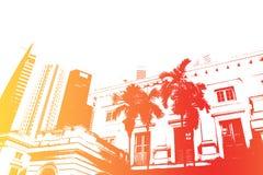 De oranje Abstracte Achtergrond van het Nachtleven van Partying van de Pret stock illustratie