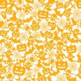 De oranje achtergrond van Halloween Stock Afbeeldingen