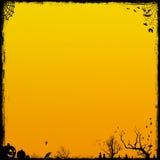 De oranje Achtergrond van Halloween Stock Foto