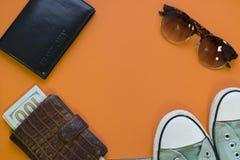 De oranje achtergrond van het reisconcept royalty-vrije stock fotografie