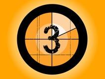 De oranje Aftelprocedure van de Film - bij 3 Stock Fotografie