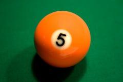 De oranje Bal van het Biljart Stock Foto