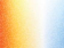 De oranje blauwe achtergrond van het vierkantenmozaïek Stock Fotografie