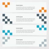 De Oranje, blauwe, grijze kleur van de pixelbanner Stock Fotografie