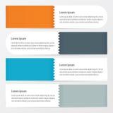 De Oranje, blauwe, grijze kleur van de Zigzaxbanner Stock Afbeelding