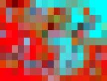 De oranje blauwe rode fosforescerende vierkante abstracte meetkunde, vat levendige textuur samen royalty-vrije illustratie