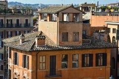 De oranje bouw in Piazza Di Spagna Stock Foto's