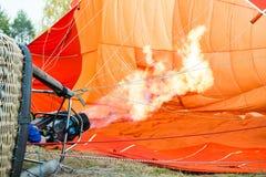 De oranje brand van de luchtballon Royalty-vrije Stock Fotografie