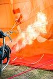 De oranje brand van de luchtballon Royalty-vrije Stock Foto