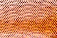 De oranje bruine oppervlakte van het kleidak Royalty-vrije Stock Afbeeldingen