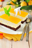 De oranje Cake van de Quark Stock Foto's