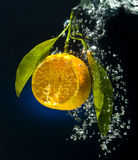 De oranje dalingen van water Royalty-vrije Stock Foto