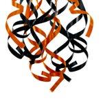 De oranje en zwarte linten van Halloween royalty-vrije stock foto