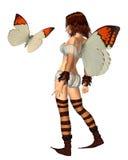 De oranje Fee van de Vlinder van het Uiteinde - 1 vector illustratie