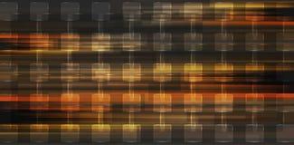 De oranje glanzende vierkanten vatten geometrische achtergrond samen Royalty-vrije Stock Afbeelding