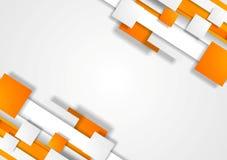 De oranje grijze collectieve achtergrond van technologie Stock Afbeeldingen