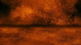 De oranje Grunge-Muur en Achtergrond van Vloerloopable Intro stock video