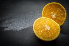 De oranje helften stock fotografie