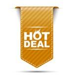 De oranje hete overeenkomst van het bannerontwerp Royalty-vrije Stock Fotografie